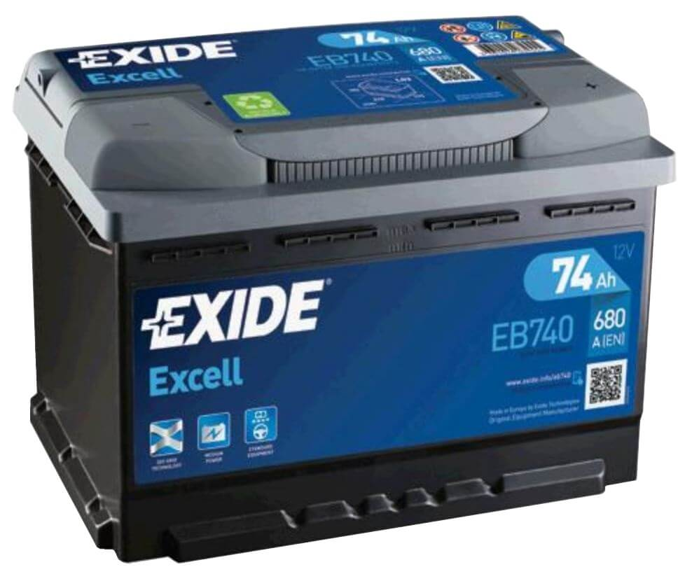 EXIDE Excell 74Ah 680A EB740