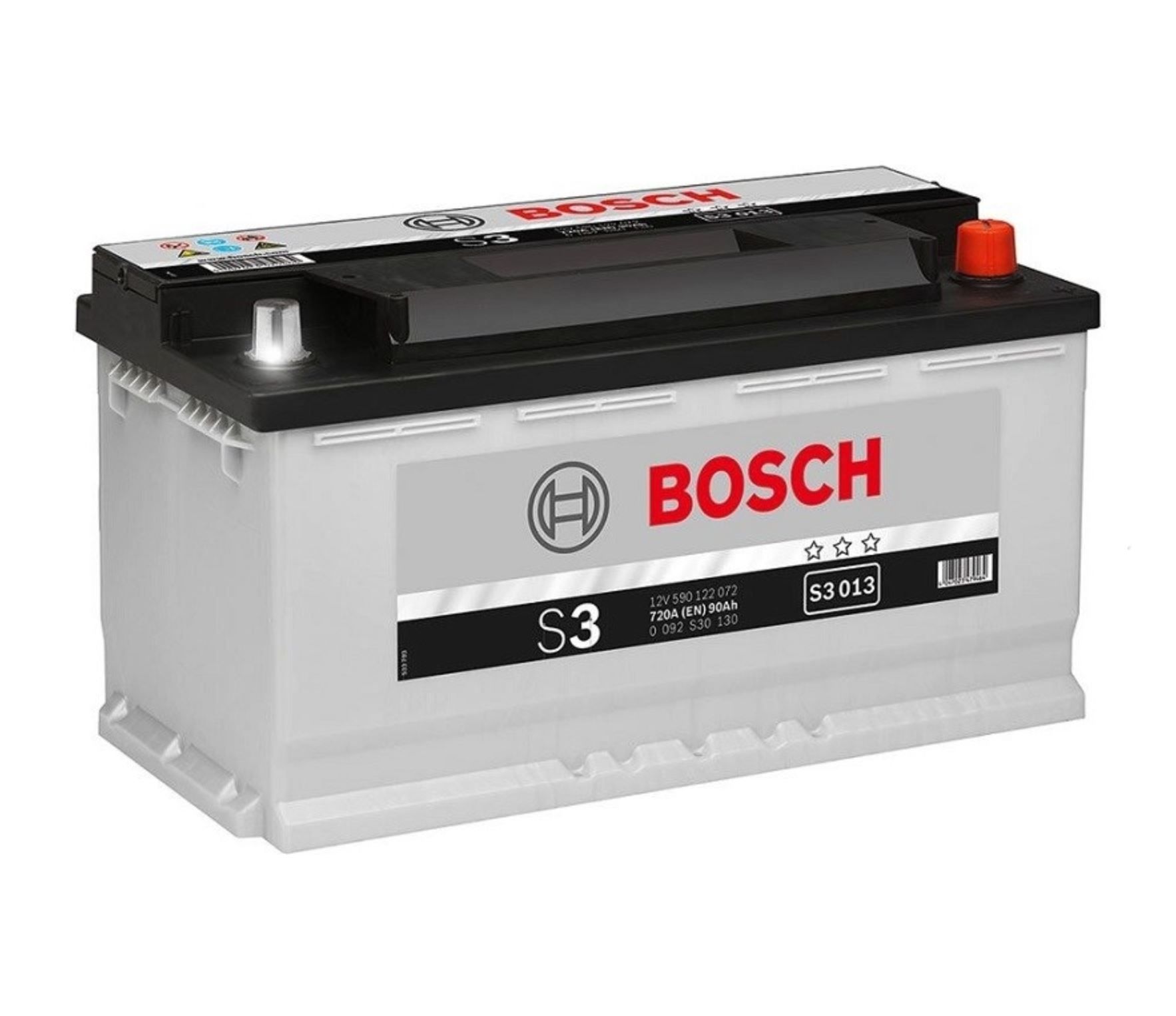 Autobaterie Bosch S3 12V 90Ah 720A