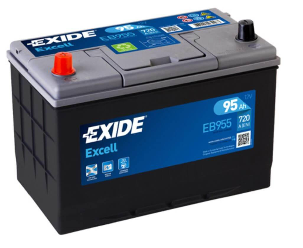 EXIDE Excell 95Ah 720A EB955