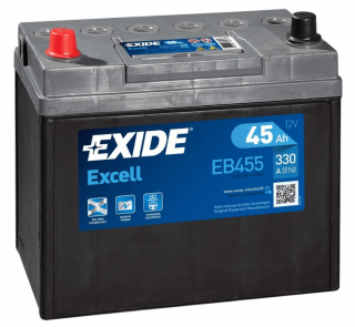 EXIDE Excell 45Ah 330A EB455