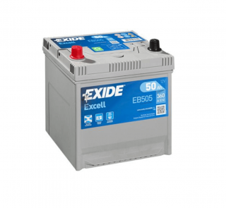 EXIDE Excell 50Ah 360A EB505